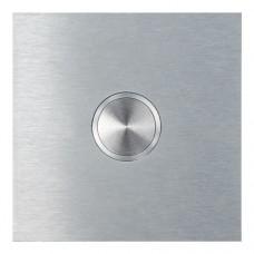 Bouton carré, en acier raffiné, sous-crépi