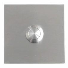 Bouton sonnette carré, en acier raffiné, sous-crépi