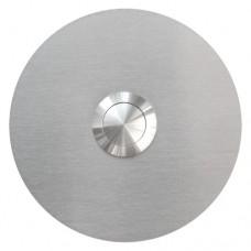 Bouton de sonnette rond, en acier raffiné, sous-crépi