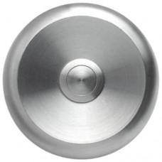 Bouton sonnette rond, acier raffiné massif, sur-crépi
