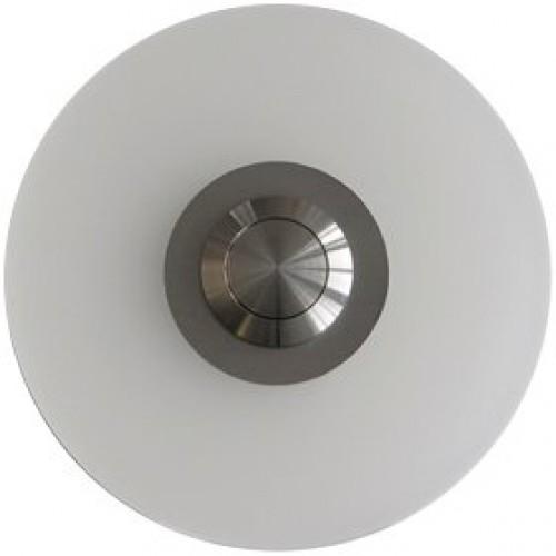 Bouton sonnette rond, verre acrylique, sous-crépi